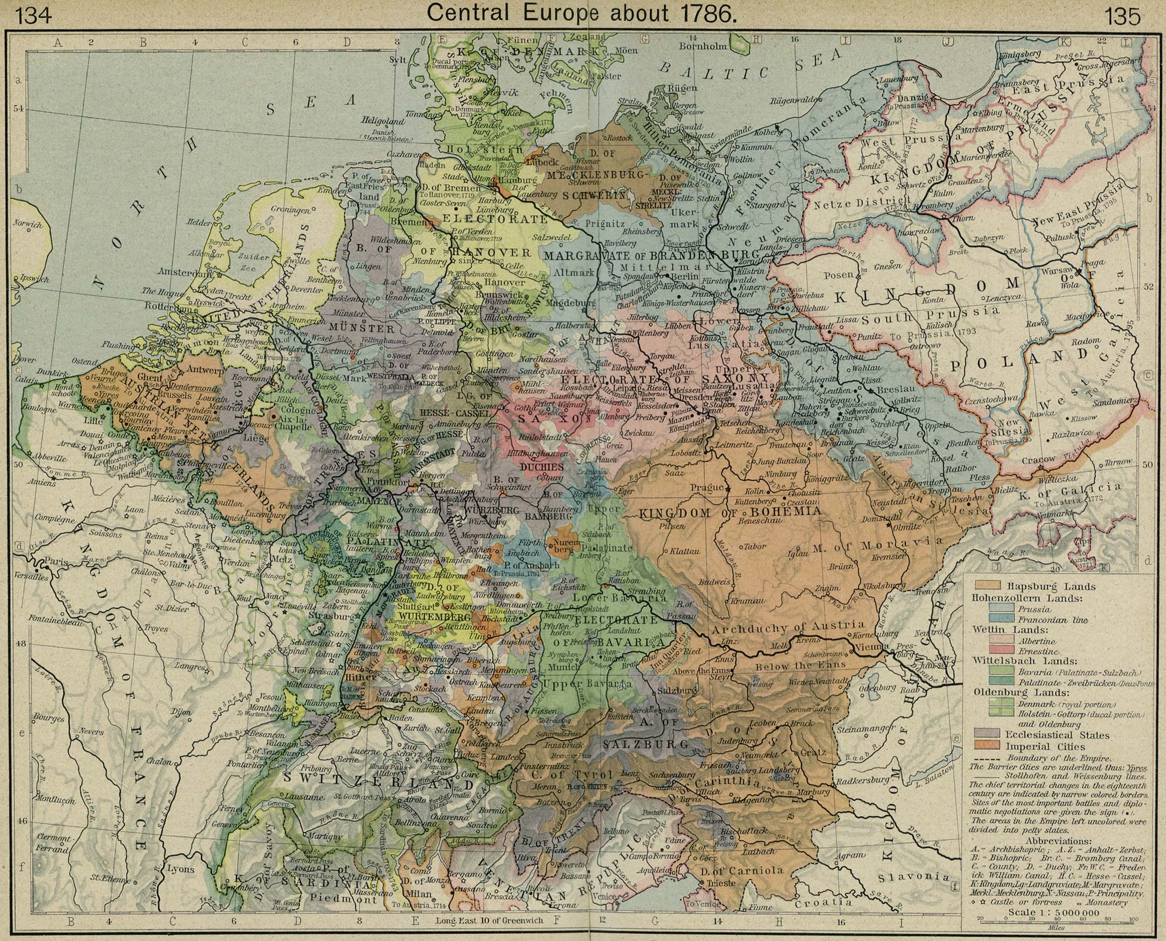 Maps Oldenburg Map Of Central Europe 1786