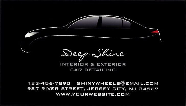 Auto Detailing Business Cards and Templates EmetOnlineBlog