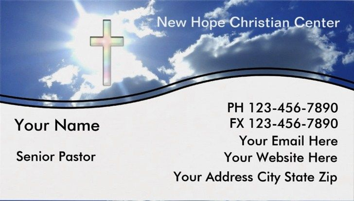 Free Pastor Business Cards and Templates EmetOnlineBlog