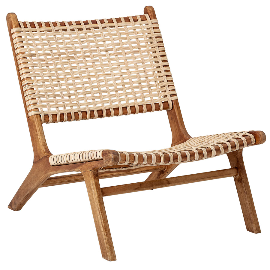Ledersessel Lounge Bloomingville Sessel Lounge Chair Keila Nature Teak Online Kaufen | Emil & Paula