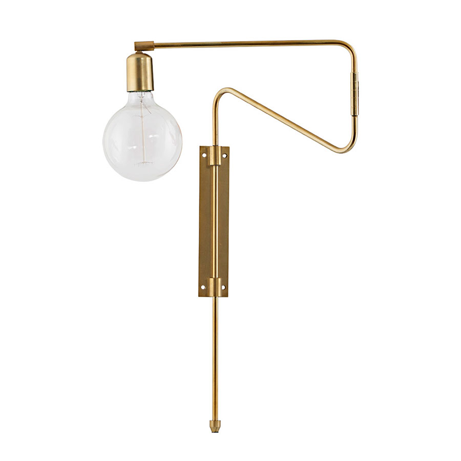 Schlafzimmer Lampe Messing House Doctor Wandlampe Swing Messing M