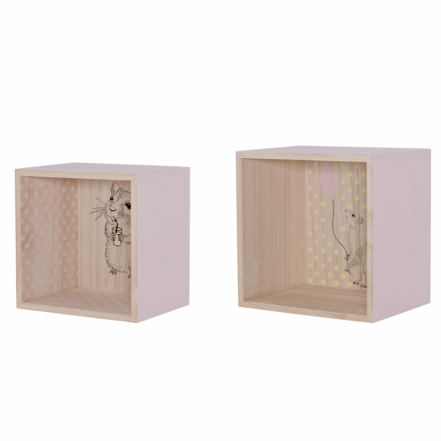 Regal Für Draußen Bloomingville Display Boxen Regal Nude 2er Set