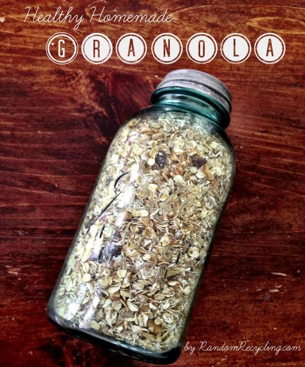 Healthy Homemade Granola via RandomRecycling.com