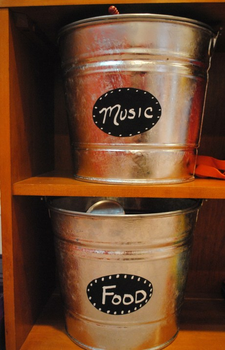 Playroom Storage Pails