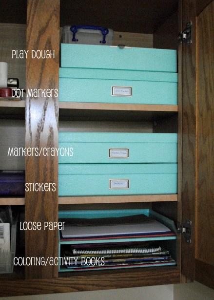 Craft Cabinet Organized RandomRecycling