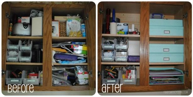 Craft Cabinet Project RandomRecycling.com