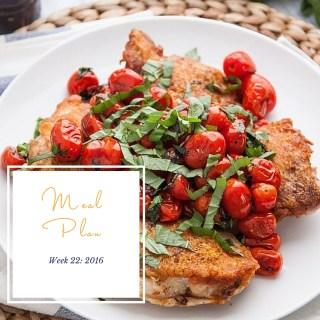 Weekly Meal Plan: Week 22 2016