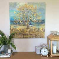 Gold Wall Art Elegant 70cm Gold Tree Canvas Ready to Hang ...