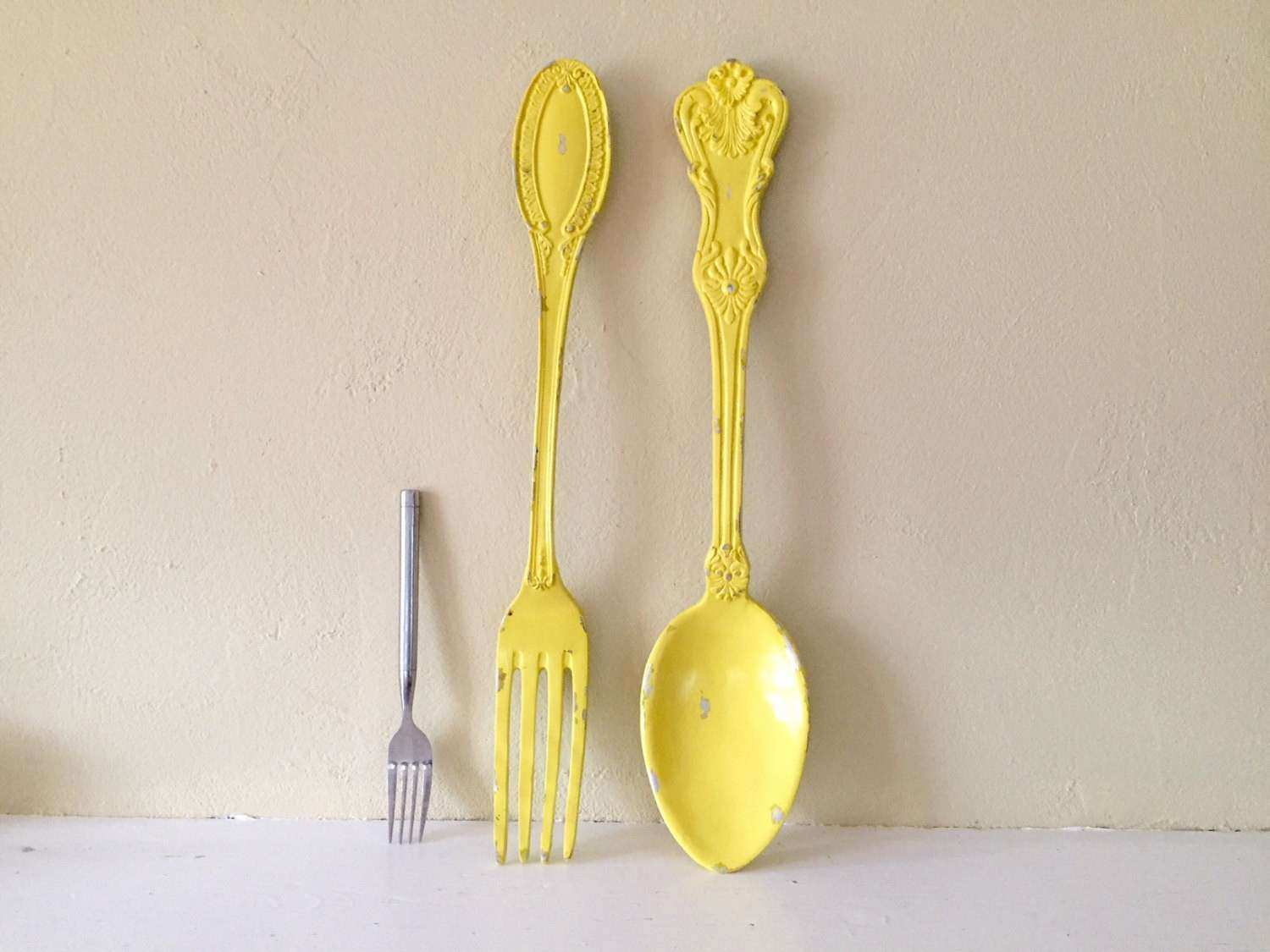 Fresh Oversized Spoon and fork Wall Decor