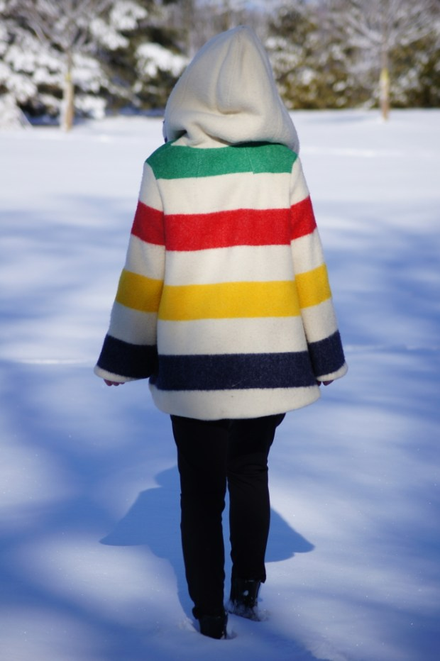Striped Hudson's Bay Coat