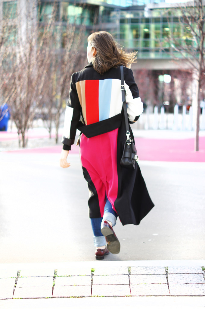 Color Blocked Coat from SheIn website