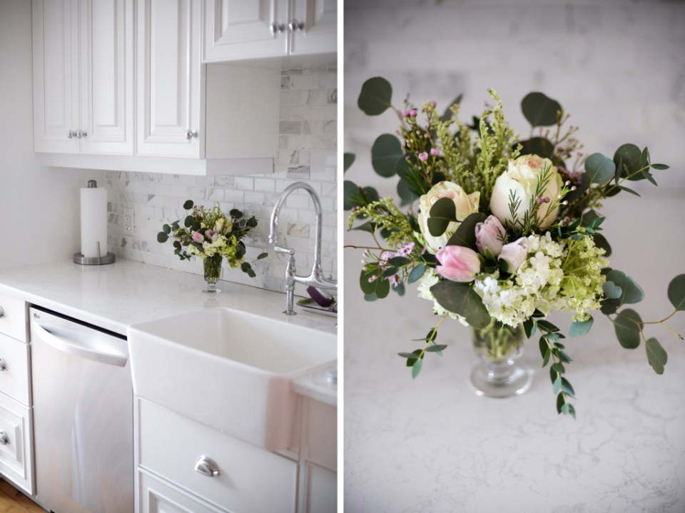 How to make small flower arrangements for every room of your house using glasses as vases