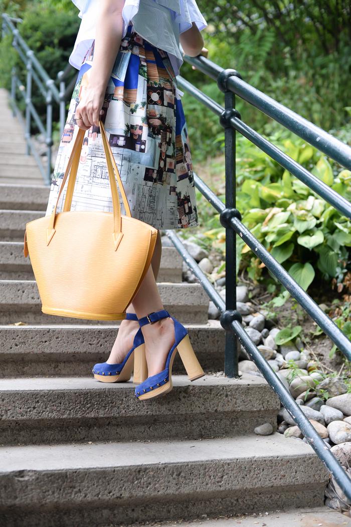 Blue Suede Heels from Nine West