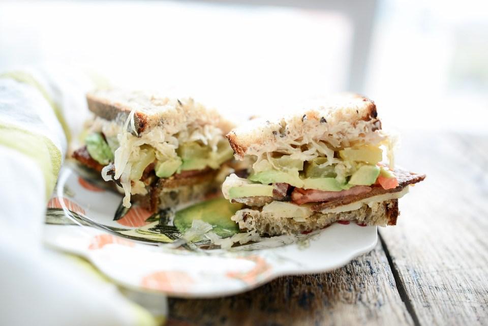 vegetarian tempeh reuben sandwich