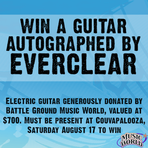 Developed for Facebook to call attention to contest to win an autographed guitar at event.
