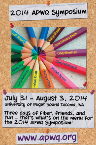 Advertisement created for the 2014 Symposium using a colored pencil image previously created for the event.