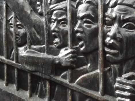 Mural at Hoa Lo Prison, Hanoi