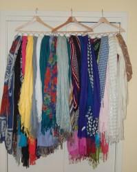 Scarf holder, Diy scarf and Scarfs on Pinterest