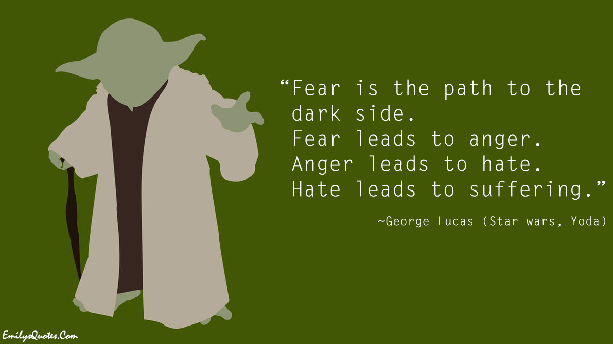 Dune Quote Wallpaper Fear Is The Path To The Dark Side Fear Leads To Anger