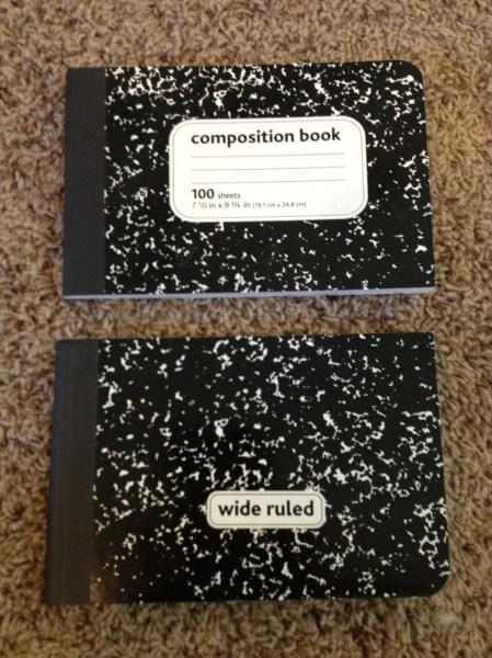 Original Composition Notebook