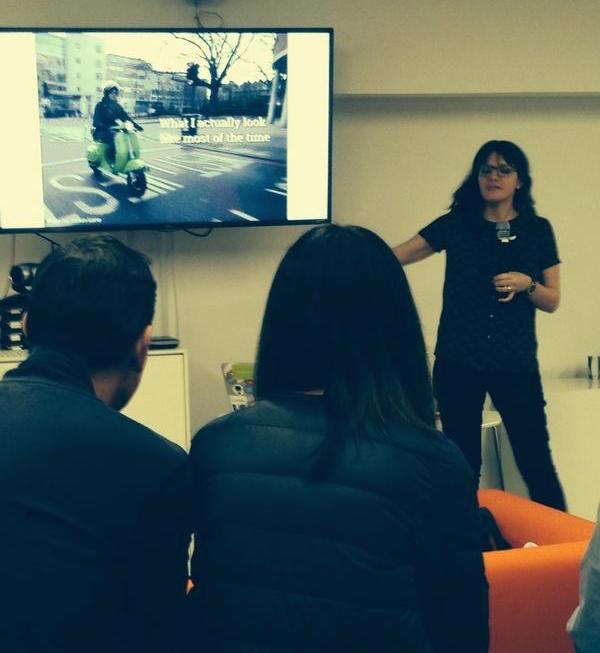Emily Webber speaking at Agile 25x20
