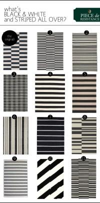 Black & White Striped Rugs   The Anatomy of Design