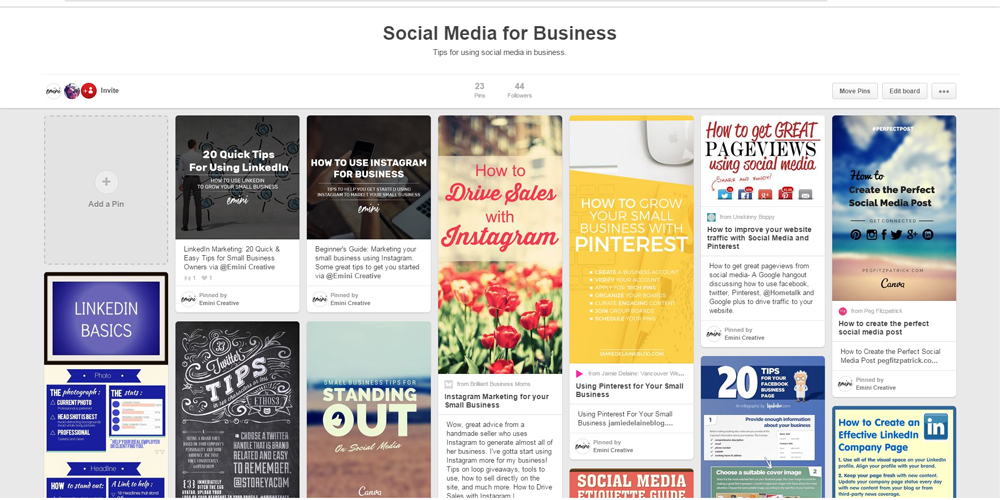 Marketing Your Business With Pinterest - EMINI CREATIVE