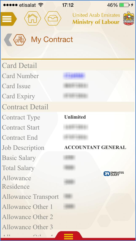 06 labour contract details through mol smartphone app