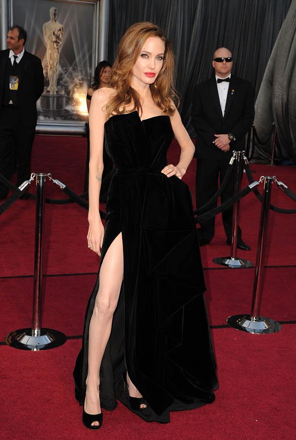 Angelina Jolie and Versace