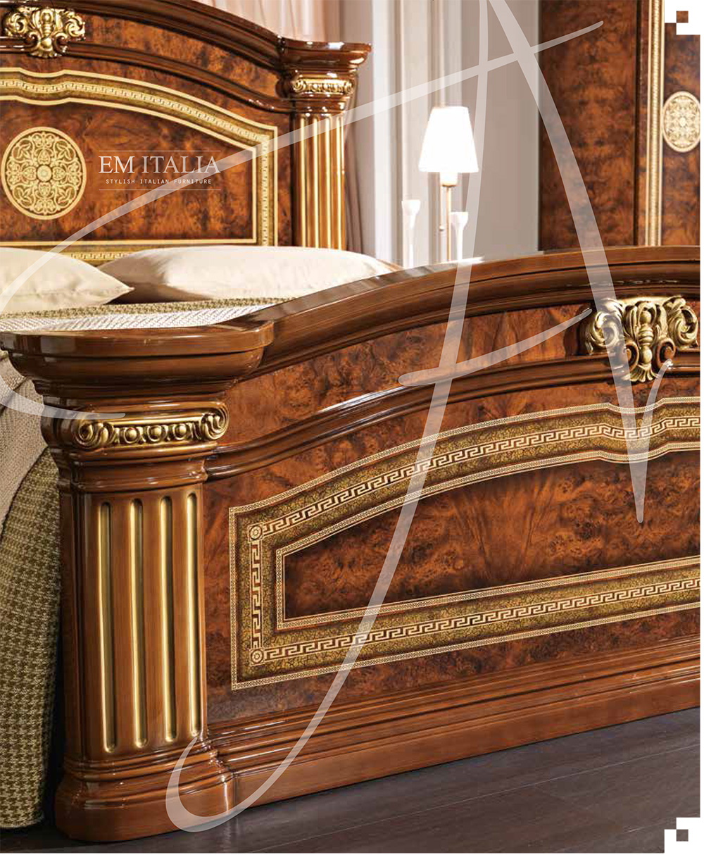 Alex Classic Italian Bedroom Set Walnut Italian Bedroom Set Italian Furniture Classic Italian Furniture Bedroom Furniture Set Suite Em Italia