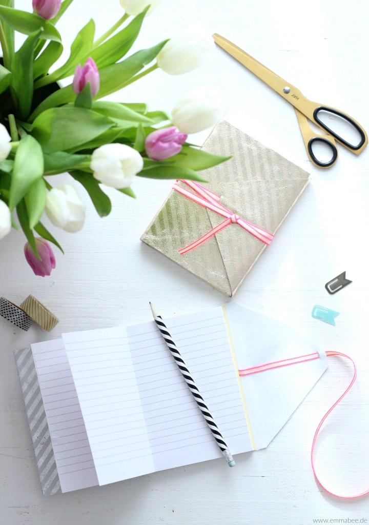 Heute gibt's ein schickes und praktisches DIY: 3 Notizbücher zum Selberbasteln