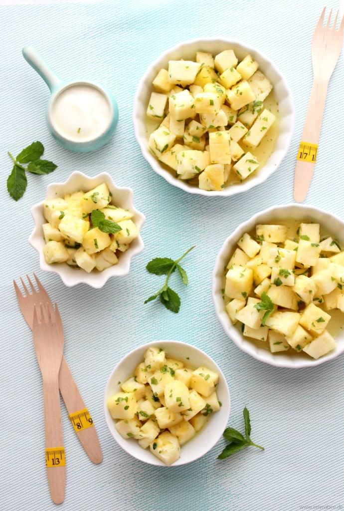 {Rezept} Dieser Ananas-Minz-Salat ist unglaublich einfach und unverschämt lecker…