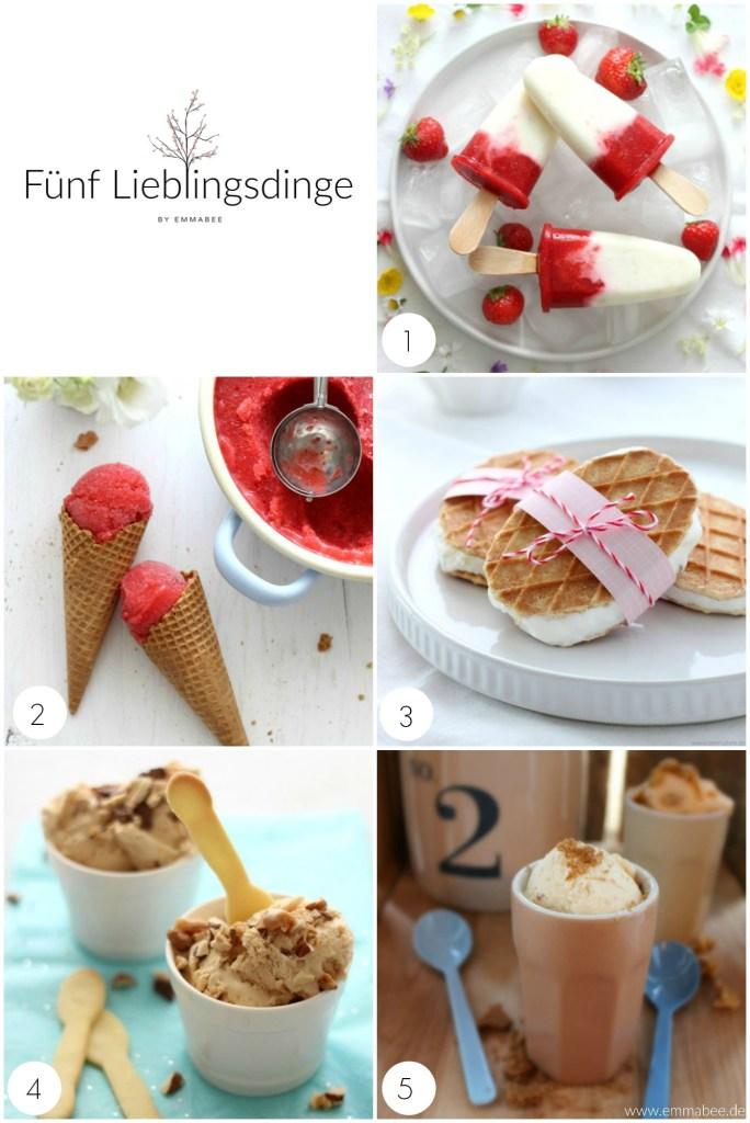 {Rezept} Meine 5 Lieblingsdinge im Juli: diese 5 Eisrezepte die sich ganz ohne Eismaschine zubereiten lassen