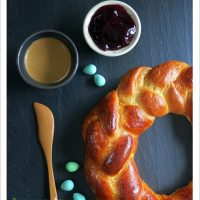 Braided Easter Bread, 2x2 ways