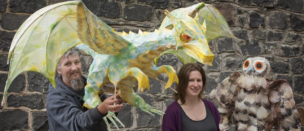 Emma Johnson and Glenn Scolyer Belgrave Lantern Artists