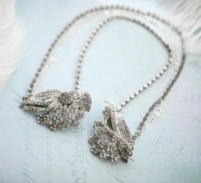 boho bridal hair chain 3