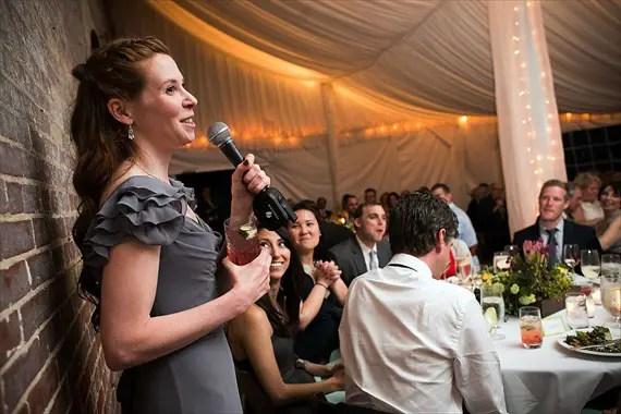 Dennis Drenner Photographs - evergreen house wedding - maid of honor speech