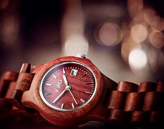 rustic themed wedding watch wood grooms gift