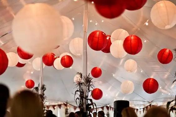 wedding tent lanterns