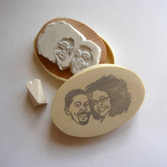 custom rubber stamp drawing using your photo