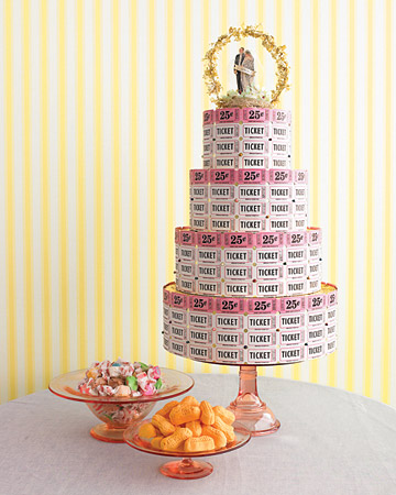 raffle ticket wedding cake