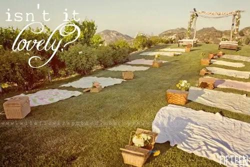picnic wedding - ceremony site