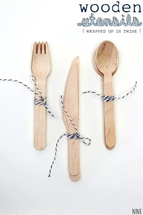 picnic wedding - wooden utensils
