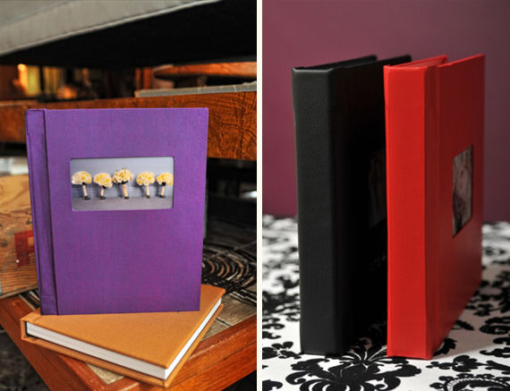 handmade wedding albums