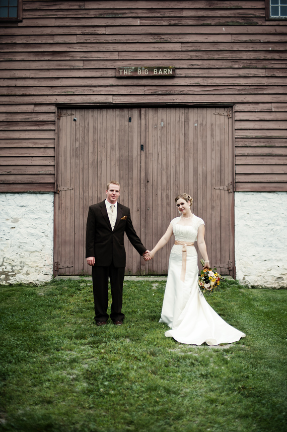rustic real wedding