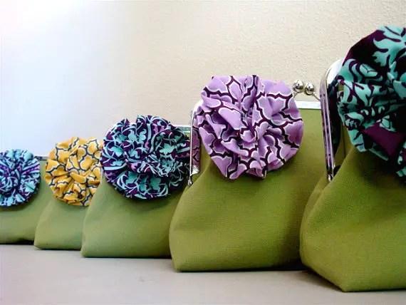 flower clutch purse