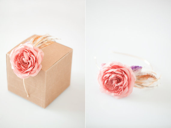 handmade bridal headband