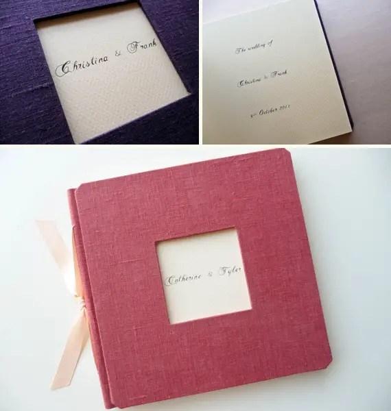 handmade guest books