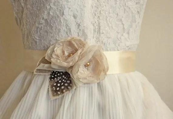 burlap wedding sash