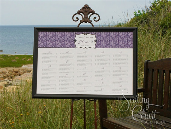 wedding seating chart giveaway